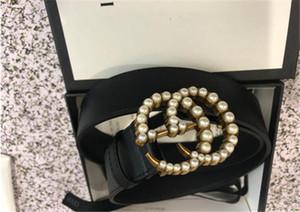 2020 hommes de haute qualité et la spécification de la ceinture de perles des femmes: 3,8 Longueur 105-125cm corps de ceinture de perles tête boucle noire