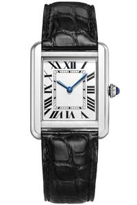Moda orologio di design serie serbatoio AUTO 28MM piazza quadrante zaffiro ladies fashion cinturino in pelle movimento al quarzo VK