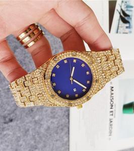 Livre navio para fora congelado ouro Big Luxo Homens Mulheres completa de aço inoxidável Presidente Automatic Negócios Mens Red Diamond Relógios de pulso Relógios