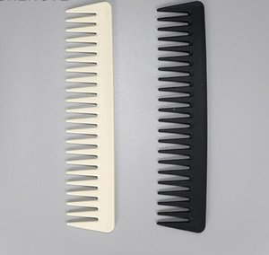 DHL Black High Quality ABS Plastic Heat-resistent Large Wide Tooth Comb Wavy Hair Stayling Hair Care Tools Salon 19 * 4cm