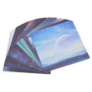 Scrapbooking Origami Paper Art Background Universe Planet Moon Paper Card Making DIY Craft
