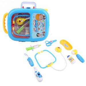 9 adet / takım Elektronik Tıbbi Kiti Oyuncak Çocuklar için Eğitim Rol Oynamak Doktor Hemşire Bavul Oyuncaklar