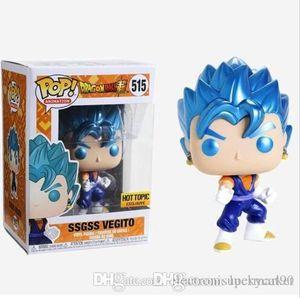Fortunato Funko Pop Dragon Ball SSGSS Vegito 515 # vinile Action Figures Brinquedos COLLEZIONE Modello giocattoli per i bambini regalo di Natale