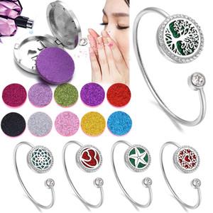Aimant de haute qualité Diffuseur Bracelet Bijoux coeur d'amour Aroma Médaillon Bracelets Huile Essentielle Diffuseur Bracelet