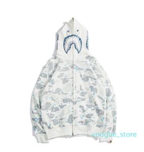 Neue Herren Leucht Hoodie Shark Head Pullover Designer Hoodie Straße Hip Hop Nachtlicht Camouflage Hoodie Pullover Kleidung