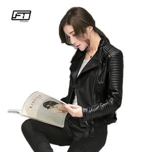 Fitaylor Frauen Frühling Herbst PU Lederjacke Beiläufige Dünne Weiche Moto Jacke Biker Kunstlederjacke Frauen T5190612