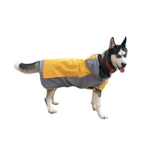Ropa para mascotas de protección impermeable chaqueta impermeable de doble capa impermeable del perro al aire frío Big Dog Capa A03