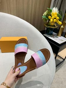 Hot Sale 2020 Women LOCK IT FLAT MULE Women's Sandals Colourful Mules 1A64MH Women's Slippers Fashion Casual Goatskin Size 35-43 with Box