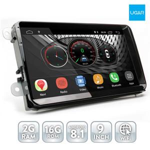 9 polegadas Android 8.1 2GB Ram Volkswagen Passat B6 B7 2006-12 Android Headunit Car DVD para com GPS Navegação Carro Stereo WiFi Bluetooth