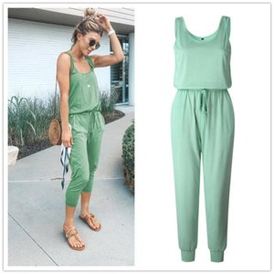 candy Sexy Off Shoulder Sleeveless Belts Jumpsuits Summer Women Solid Casual Pockets Long Rompers Slim Koren Style Beach