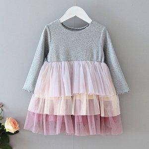 2019 Automne Filles bébé gâteau robe à manches longues en dentelle enfants couches Tulle Tutu jupe robe enfants princesse robes 5345