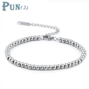 stainless steel jewelry charms beads bracelets& bangles men femme gifts for women female braclet braslet chain link accessories