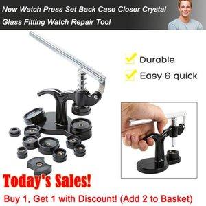 13pcs Fitting Watch Press Set Repair Dies Non-Slip Spring Closer Tool Crystal Glass Opener Back Case Manual Battery Change