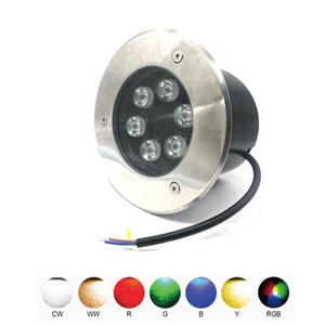Edison2011 5шт 6W привели подземных лампа Свет AC85-265V Водонепроницаемая Подземные Похоронен Лампы DC 12V для наружного теплого белого Белый RGB