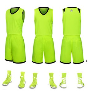 2019 New Blank Basketball jerseys printed logo Mens size S-XXL cheap price fast good quality Apple Green AG001AA12