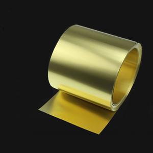 Thin Brass Strip Thickness 0.1 0.2 0.3 0.5mm Sheet gold film Brass Foil Brass plate H62 100mm width