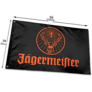 Jagermeister Flagge 150x90cm 100D Polyester Digital Printing Sportmannschaft School Verein Indoor Outdoor Versand Kostenloser Versand