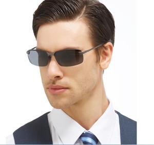 Gros- Acme 2017 Classique Lunettes de Soleil Hommes Lunettes polarisants UV400 Lunettes de soleil pour conduite sans monture hommes Pilot