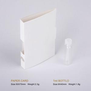 1 ml leer Tropfflasche Parfüm-Flasche mit Papier-Karte Beispiel nachfüllbare Duftstoff-Flasche Duft Reagenzglas Flaschen