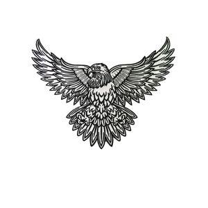 Perfeito Morale Águia Bordados patch Ink Tattoo Art Projeto Jacket Patches Biker 28 centímetros * 21 centímetros de Ferro remendo frete grátis