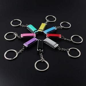 Metal 4 Delik Mini Armonika Anahtarlık Çocuk Oyuncak 'ın Anahtarlık çocuk Hediyeler Anahtarlık Çanta Cep Anahtar Yüzükler