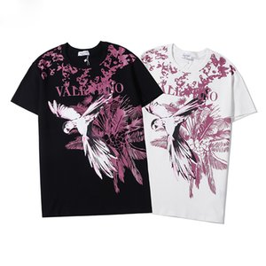 Luxury Mens 2020 mens designer t shirts Bird print Casual Short Sleeves Clothes Fashion High Quality Shirts women designer clothes