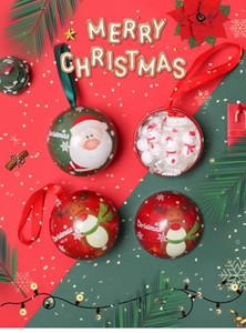 palla di ferro regalo di Natale per i bambini Babbo Natale pupazzo piccola scatola di caramelle creativo di Natale contenitore regalo di decorazione dell'albero per i bambini A07