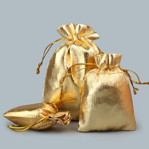 Nuovo 3 dimensioni Fashion Gold Plated Garza Satinata Sacchetti di gioielli Gioielli Regalo di natale Sacchetti Sacchetto 5x7 cm 7cx9 cm 9x11 cm YD0128