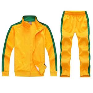OLOEY 2 pcs molletonnés Survêtement équipe hommes Survêtement piste costumes sport masculin de survêtement veste de jogging zip ensemble