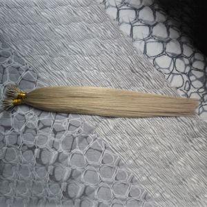 Micro Nano Loop Ring Hair 1 г Прямые наращенные волосы из микро-бусин 100 г Натуральные нано-кольца человеческие волосы с предварительной петлей