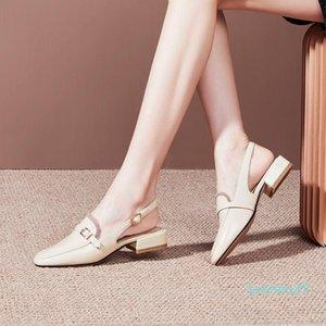 Lapolaka 2020 New Design Plus de gran tamaño 48 mujeres sandalias del dedo del pie cuadrado de tacón bajo las bombas de la decoración del metal ocasional Mujer Calzado de verano l25
