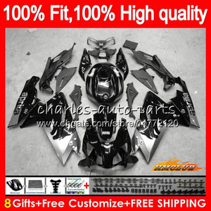 Injection For Aprilia RS4 RSV125 RS125R 2006 2007 2008 2009 2010 2011 69HC.129 RS 125 RS-125 blk silvery RS125 06 07 08 09 10 11 OEM Fairing