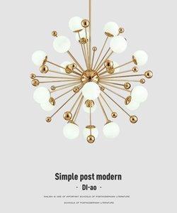 İskandinav LED yemek kolye postmodern yaratıcı kişilik karahindiba cam bilye Amerikan basit yatak odası kolye ışıkları lambaları