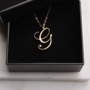 12 قطعة monogram الإنجليزية الأبجدية الأولي g قلادة قلادة صغيرة الإنجليزية إلكتروني أولية g مشكلي سحر المعادن للمجوهرات قلادة الخطوبة