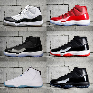 Concord High 45 11s Platinum Tint Cap and Gown Men Kids Basketball Shoes Gym Red Bred Space Jumpman 11 sports Sneakers trainers