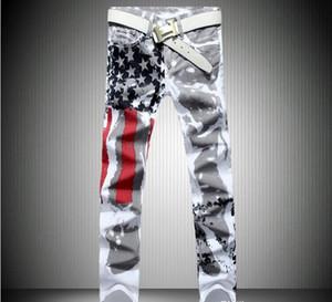 Art und Weise heißes Mens berühmter Marken-Denim mit Flügeln American Flag Plus size