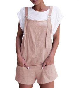 Pagliaccetti caldi variopinti della signora pantaloncini con tasche in generale di estate delle donne delle tute delle donne senza maniche delle donne casuali allentati