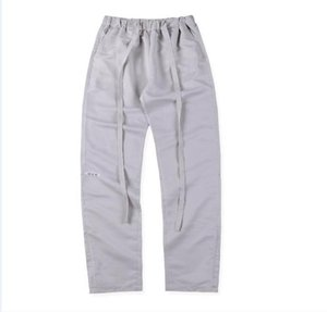 HOT New Season Sweatpants Men Women Streetwear Calabasas Embroidery Pants West Joggers Drawstring Season Sweatpants 9782