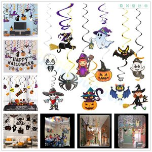 6pcs set Halloween Easter decoration Skull Witch Pumpkin Party PVC Spiral Ornaments DIY Hanging Whirls Swirl Party home Supplies