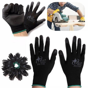 2018 nuevos guantes de trabajo recubiertos de nitrilo al por mayor de 12 pares Nylon Safety Labor Factory Garden Repair Protectore Gloves Fashion HotNylon