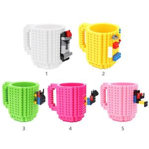 Drinkware des blocs de construction Tasses DIY Block Puzzle Tasse 350ml Build-Brick Creative tasse de café tasses Coupe pour les enfants Cadeaux d'anniversaire
