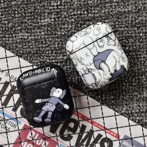 Dessin animé classique décoratif de luxe Kaws cas pour shell sac housse de protection accessoires AirPod pomme sans fil Bluetooth écouteurs