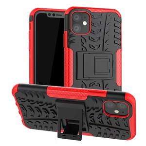 Custodia per armatura per Iphone 11 Pro 2019 XS MAX XR X Galaxy Note 10 Pro 9 S9 S8 ShockProof Dazzle Rugged Hybrid Hard PC + TPU Dual Skid Dual Cover