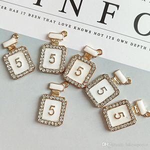Blanc Bouteille de Parfum NO5 Bracelet collier pendentif en strass Charms Accessoires Bijoux Diy en gros avec Epacket Livraison