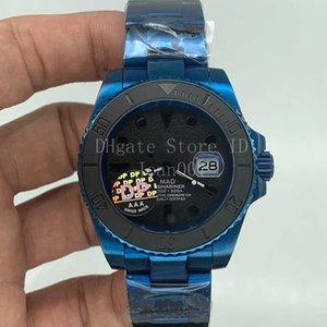 2020 Новые мужские часы черный керамический ободок SUB Часы Блестящий Синий Покрытие из нержавеющей стали автоматические механические мужские часы 40мм MAD