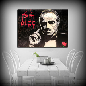 Alec Monopoly The Godfather Abstract Wall Art Oil Painting Poster Canvas Painting Print Pictures for Living Room Home Decor