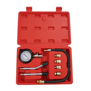 8PCS Gasolina Gas Motor Cilindro Compressor manómetro Medidor de Teste de Compressão Tester Vazamento de diagnóstico Manômetros