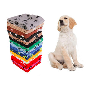 Soft pet dog cat blanket Dog paw star print blankets Dog dry hair bath cushion home pet products will and sandy gift