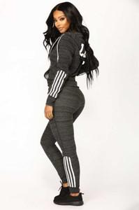 Frauen Kleidung Zweiteilige Sets 2 Stück Frau Satz Frauen Schweißklagen Plus Size Jogging Sport Anzug Soft-Langarm Anzug Sport