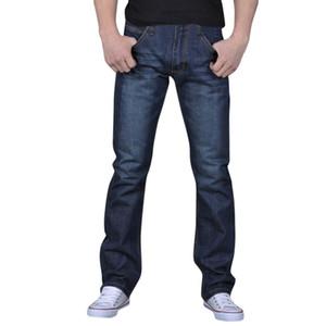 2019 Summer New Fashion Hot Sale Men's Pure Color Denim Cotton Vintage Wash Hip Hop Work Trousers Jeans Pants A50